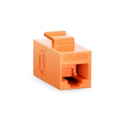 Cat6 8P8C Unshielded RJ45 Coupler Keystone Insert Module - Orange
