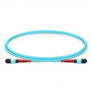 1m (3ft) MTP Female 24 Fibers Type B (TIA-568) LSZH OM4 (OM3) 50/125 Multimode Trunk Cable, Aqua