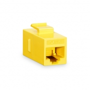 Cat6 8P8C Unshielded RJ45 Coupler Keystone Insert Module - Yellow