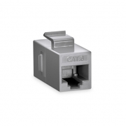 Cat6 8P8C Unshielded RJ45 Coupler Keystone Insert Module - Gray