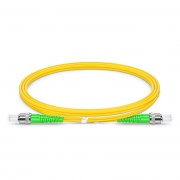 1m (3ft) ST APC to ST APC Duplex OS2 Single Mode PVC (OFNR) 2.0mm Fiber Optic Patch Cable