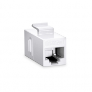 Cat5e 8P8C Unshielded RJ45 Coupler Keystone Insert Module - White