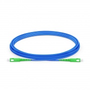 3m (10ft) SC APC to SC APC Simplex OS2 Single Mode Armored PVC (OFNR) 3.0mm Fiber Optic Patch Cable