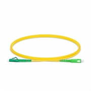 LC-SC APC Simplex Single Mode Fibre Patch Lead 2.0mm PVC (OFNR) 1m