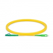 2m (7ft) LC APC to SC APC Simplex OS2 Single Mode PVC (OFNR) 2.0mm Fiber Optic Patch Cable