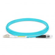 2m (7ft) LC UPC to ST UPC Duplex OM3 Multimode PVC (OFNR) 2.0mm Fiber Optic Patch Cable