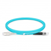 1m (3ft) SC UPC to ST UPC Duplex OM3 Multimode PVC (OFNR) 2.0mm Fiber Optic Patch Cable