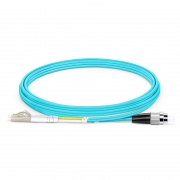 2m (7ft) LC UPC to FC UPC Duplex OM3 Multimode PVC (OFNR) 2.0mm Fiber Optic Patch Cable