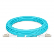5m (16ft) LC UPC to LC UPC Duplex OM3 Multimode Armored PVC (OFNR) 3.0mm Fiber Optic Patch Cable