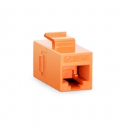 Cat5e 8P8C Unshielded RJ45 Coupler Keystone Insert Module - Orange
