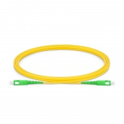 2m (7ft) SC APC to SC APC Simplex OS2 Single Mode PVC (OFNR) 2.0mm Fiber Optic Patch Cable