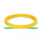 5m (16ft) SC APC to SC APC Simplex OS2 Single Mode PVC (OFNR) 2.0mm Fiber Optic Patch Cable