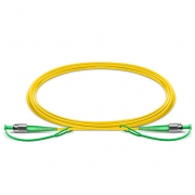 1m (3ft) FC APC to FC APC Simplex Slow Axis Polarization Maintaining Single Mode Fiber Optic Patch Cable-1550nm