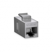 Cat5e 8P8C Unshielded RJ45 Coupler Keystone Insert Module - Gray