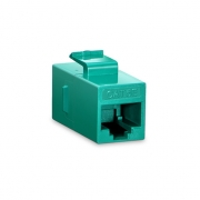 Cat5e 8P8C Unshielded RJ45 Coupler Keystone Insert Module - Green