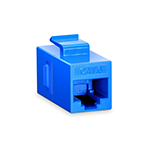 Module d'Insertion Keystone Coupleur Cat5e RJ45 (8P8C) Non Blindé - Bleu