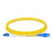 2m (7ft) LC UPC to SC UPC Duplex OS2 Single Mode LSZH 2.0mm Fiber Optic Patch Cable