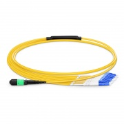12 Fibres MTP to 6 LC Duplex LSZH OS2 Single Mode Elite Fibre Breakout Cable, Type A, 1m