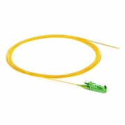 1m (3ft) LSH APC Simplex OS2 Single Mode PVC (OFNR) 0.9mm Fiber Optic Pigtail