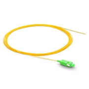1m (3ft) SC APC Simplex OS2 Single Mode PVC (OFNR) 0.9mm Fiber Optic Pigtail