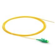 1m (3ft) LC APC Simplex OS2 Single Mode PVC (OFNR) 0.9mm Fiber Optic Pigtail