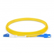 LC-SC UPC Duplex Single Mode Fibre Patch Lead 2.0mm OFNP 2m