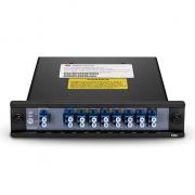 Multiplexor Demultiplexor CWDM Mux Demux pasivo de fibra dual 8 canales 1290-1430nm, FMU montaje en rack 1U, LC/UPC