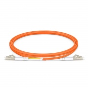 1m (3ft) LC UPC to LC UPC Duplex OM2 Multimode PVC (OFNR) 2.0mm Fiber Optic Patch Cable