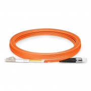 3m (10ft) LC/UPC-ST/UPC デュプレックス マルチモード 光パッチケーブル(2.0mm、PVC/OFNR、OM2)