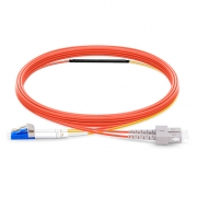 LC to SC OM1 Mode Conditioning Patch Cable, 1m (3ft)