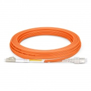 5m (16ft) LC UPC to SC UPC Duplex OM1 Multimode PVC (OFNR) 2.0mm Fiber Optic Patch Cable