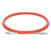 3m (10ft) LC UPC to SC UPC Simplex OM1 Multimode PVC (OFNR) 2.0mm Fiber Optic Patch Cable