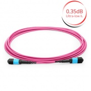 15m (49ft) MTP® Female to MTP® Female 12 Fibres OM4 50/125 Multimode Trunk Cable, Polarity B, LSZH Bunch