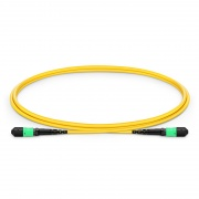 1m (3ft) MTP® Female 12 Fibres Type B LSZH OS2 9/125 Single Mode Elite Trunk Cable, Yellow