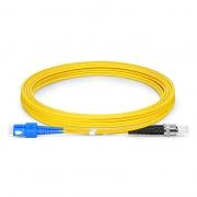 4m SC /UPC - ST /UPC 双工单模 OS2光纤跳线 -2.0mm PVC(OFNR)