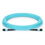 10m (33ft) MTP Female 12 Fibers Type B LSZH OM3 50/125 Multimode Elite Trunk Cable, Aqua