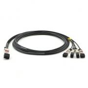3m (10ft) Câble Breakout à Attache Directe en Cuivre Passif QSFP28 100G vers 4x SFP28 25G pour Switchs de FS
