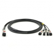 5m (16ft) Câble à Attache Directe Twinax en Cuivre Passif QSFP28 100G vers 4x SFP28 25G pour Switchs de FS