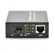 Managed 1x 1000Base-X SFP to 1 x 10/100/1000Base-T RJ45 Ports Gigabit Ethernet Media Converter