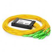 1x16 Splitter PLC de fibra, módulo ABS de pigtailed/empalme, 3.0mm, SC/APC