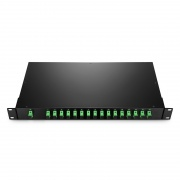 Customized 1xN, 2xN Rack Mount Fiber Splitter, LC/SC/ST/FC, UPC/APC, Singlemode