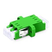 LC/APC to LC/APC Duplex Single Mode Plastic Fiber Optic Adapter/Mating Sleeve with Flange
