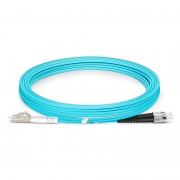 3m (10ft) LC UPC to FC UPC Duplex OM3 Multimode Armored PVC (OFNR) 3.0mm Fiber Optic Patch Cable