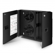FHD Wall Mount Enclosure Unloaded, 2-Door, Holds up to 2x FHD Cassettes or Panels, 48 Fibers (LC)