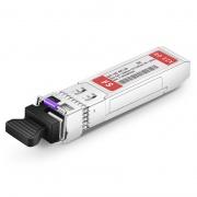 Dell SFP-GE-BX120U-1490 Compatible 1000BASE-BX BiDi SFP 1490nm-TX/1550nm-RX 120km DOM Transceiver Module