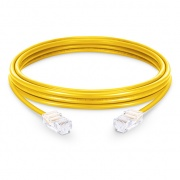 3.3ft (1m) Cat6 Non-booted Unshielded (UTP) PVC Ethernet Network Patch Cable, Yellow