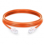 10ft (3m) Cat6 Non-booted Unshielded (UTP) PVC Ethernet Network Patch Cable, Orange