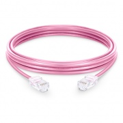 3.3ft (1m) Cat6 Non-booted Unshielded (UTP) PVC Ethernet Network Patch Cable, Pink