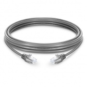 16ft (5m) Cat6 Snagless Shielded (SFTP) PVC Ethernet Network Patch Cable, Gray