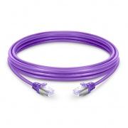 10ft (3m) Патч-корд Cat.6, SFTP, Snagless Booted, Фиолетовый-PVC